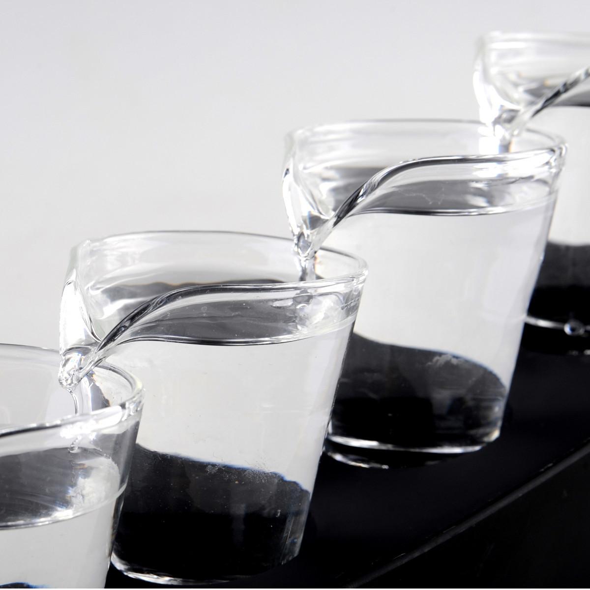 Domino Shots - Shot-Set mit 5 Gläsern