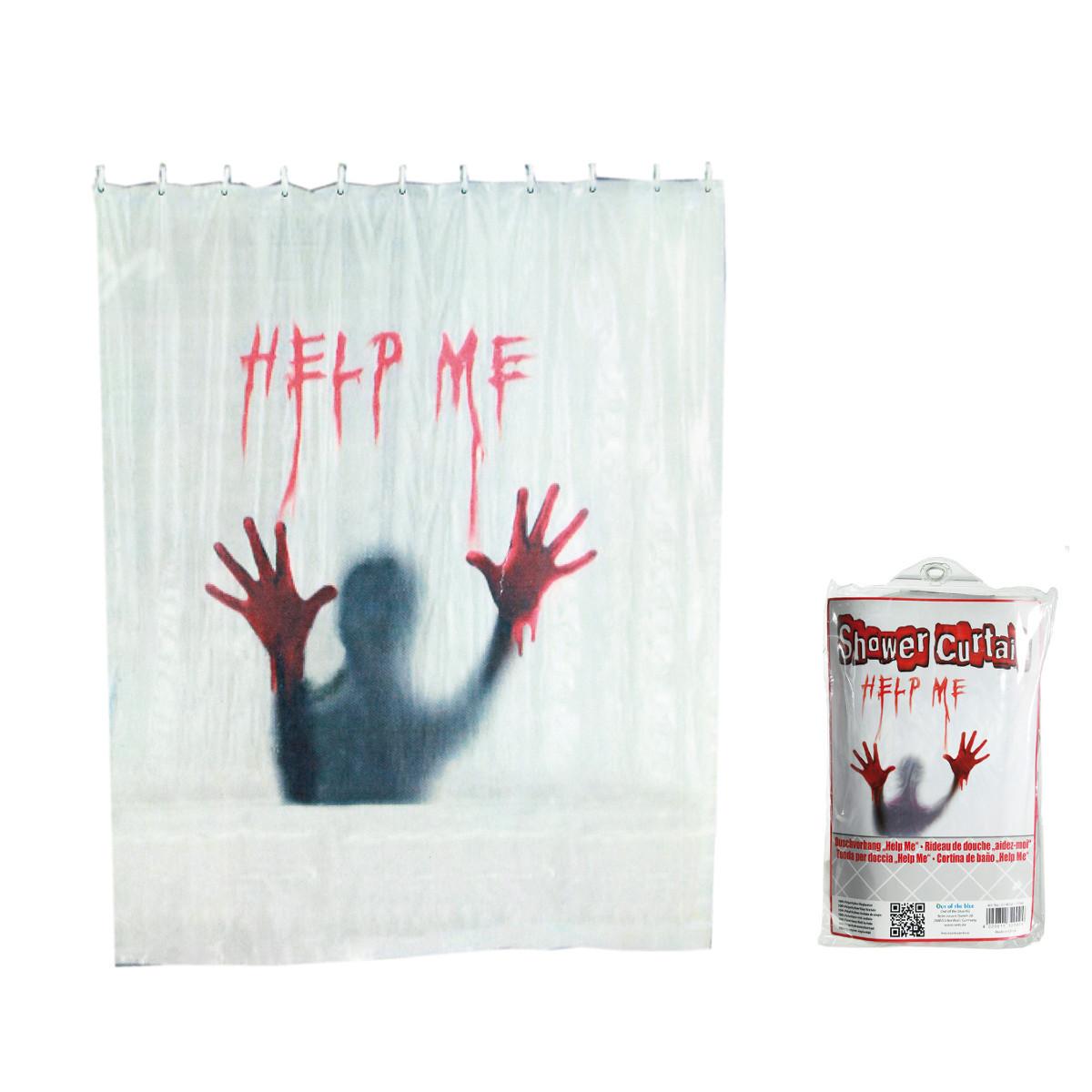 """Duschvorhang """"Help Me"""""""