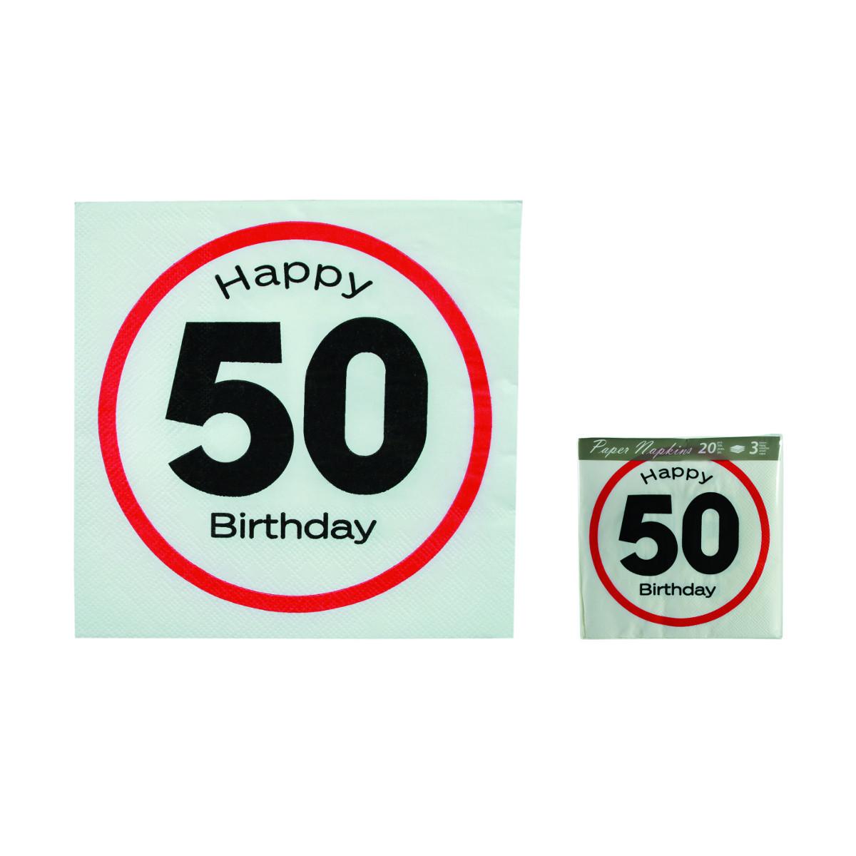 Happy Birthday napkins street sign