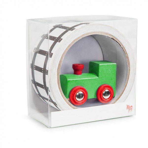 Junakisko teippi ja leikkijuna