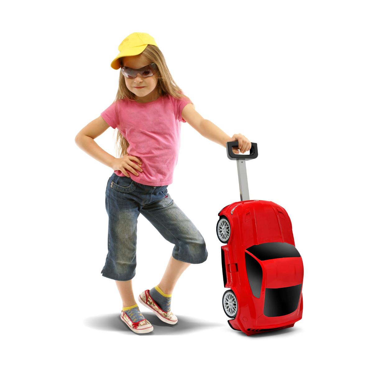 Kilpa-auto lasten matkalaukku