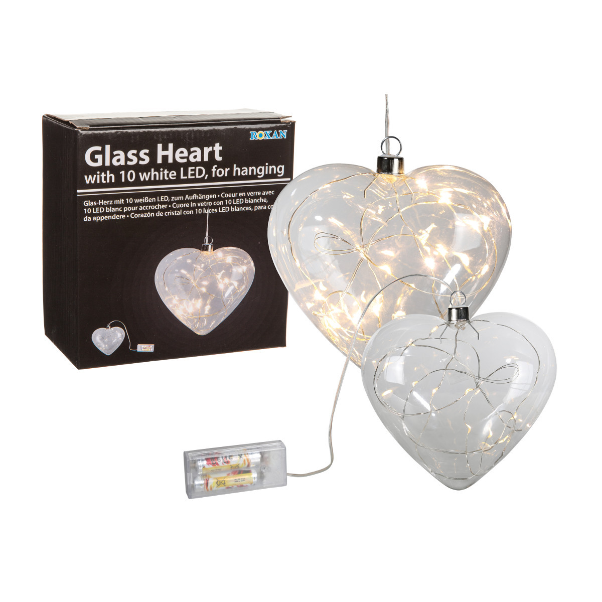 Lasiset sisustusvalot LED-lampuin