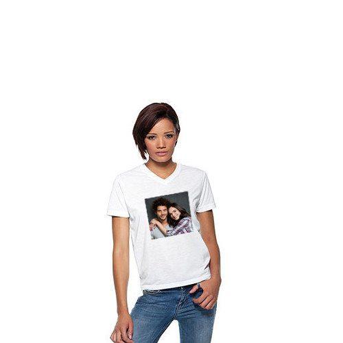 Naisten t-paita vapaavalintaisella kuvalla
