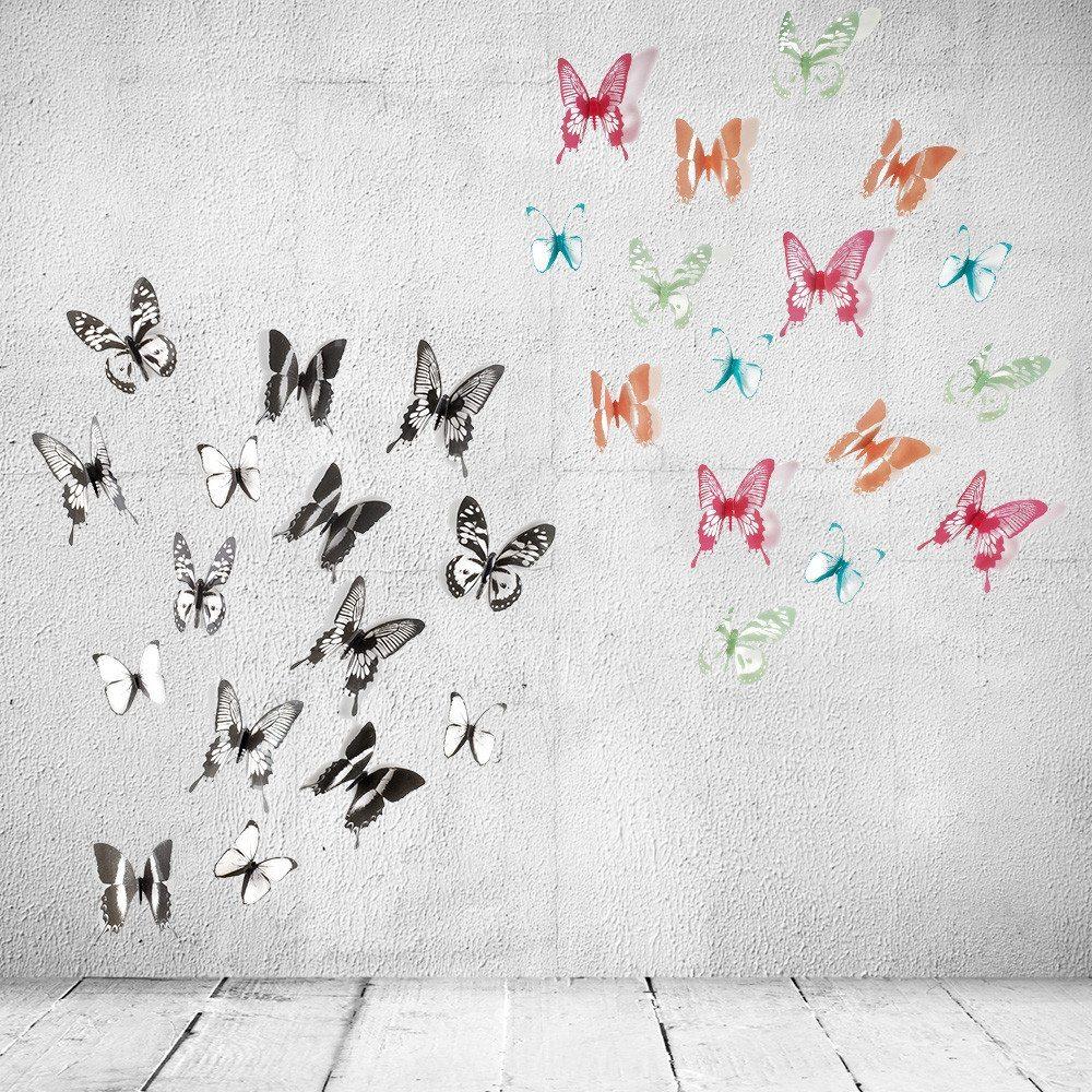 Perhoset seinäkoriste