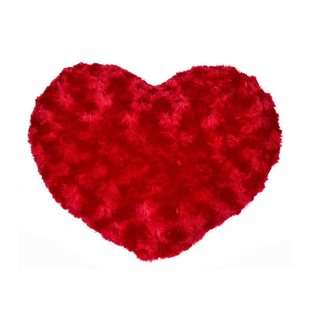 red heart cushion