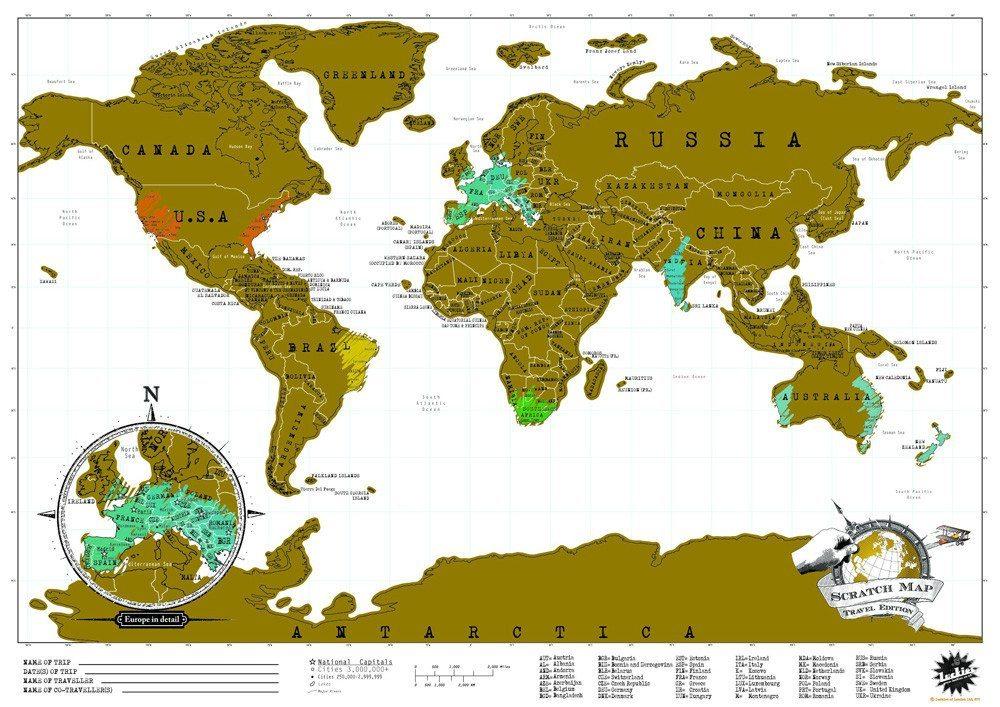 Scratch World Map Mini