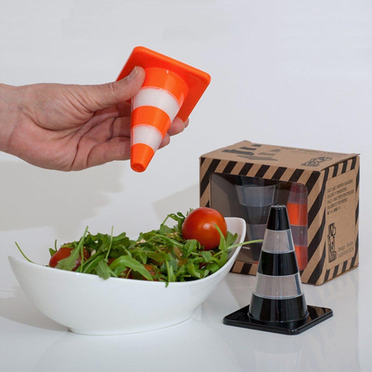Työmaakartio suola- ja pippurisirotin