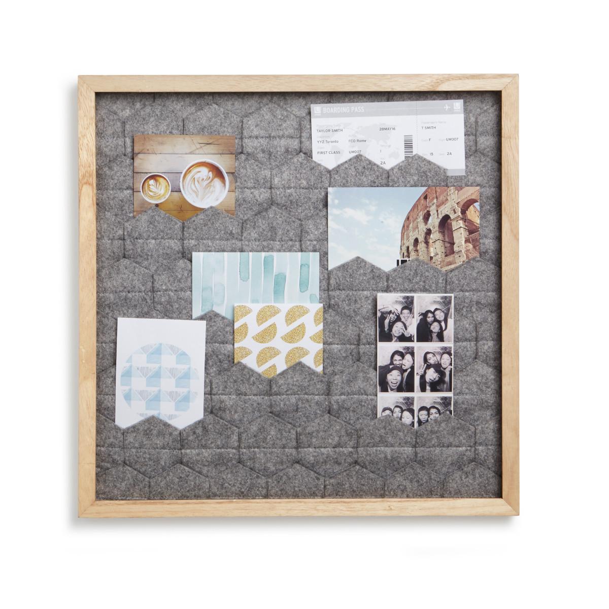 Foto-Display mit Filztaschen