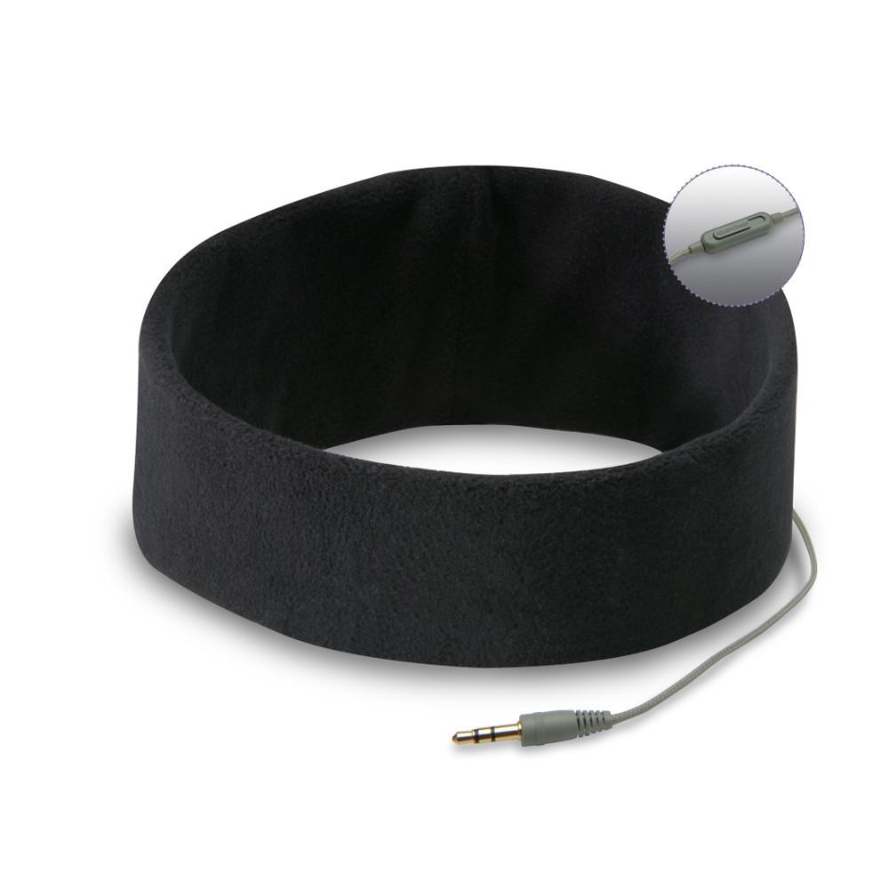 Kopfhörer-Stirnband – Der Pyjama für die Ohren (schwarz)