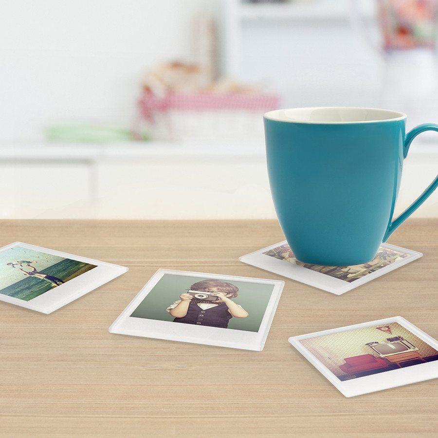 Polaroid-kuva lasinaluset omilla kuvilla