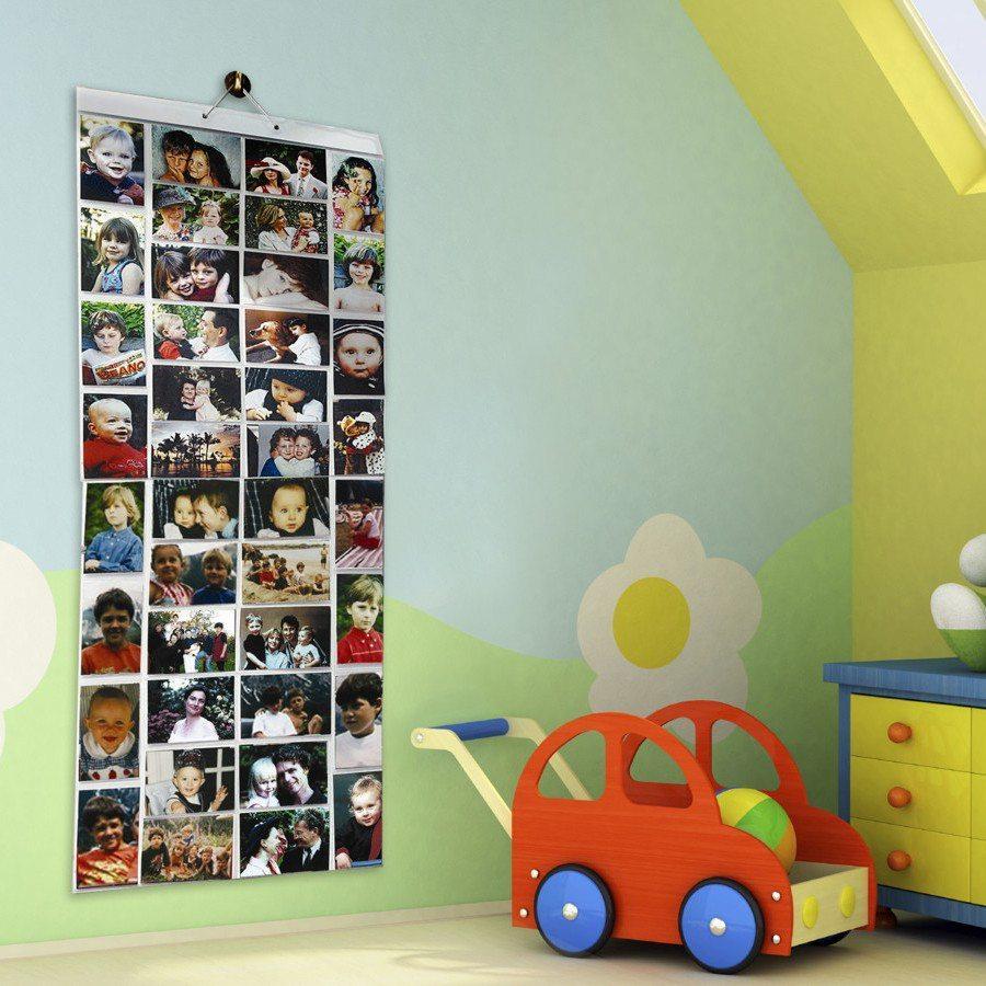 Foto-Wand mit 40 Fächern