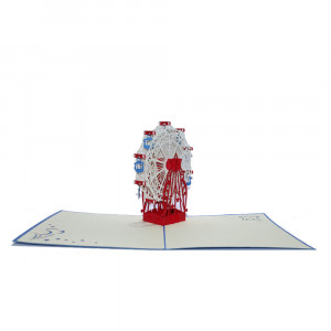3D-Grußkarte mit Pop-up-Riesenrad