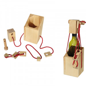 Arvoitus-lahjapakkaus viinipullolle