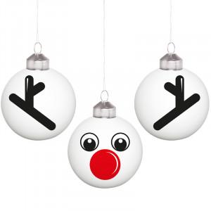 Christbaumkugel Set Rudolph