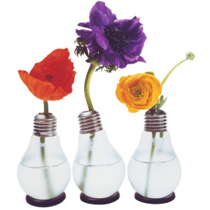 Hehkulamppu-kukkamaljakko