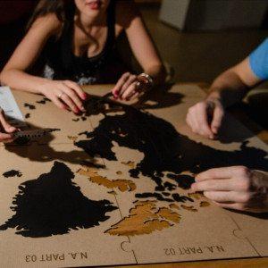 Luxury Wooden World Map