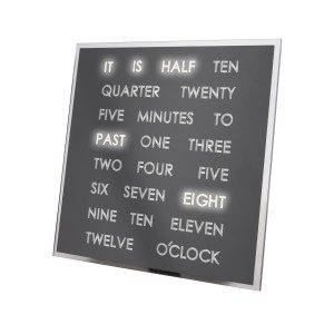 LED-kello sananäytöllä