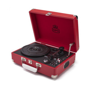 SUITCASE RECORD PLAYER WITH BUILT-IN SPEAKERS