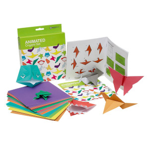 Origami-Set mit 100 Blatt buntem Papier