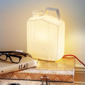 Porzellanlampe - Kanister E-Label