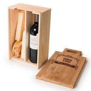 RACKPACK – kaiverrettu lahjapakkaus viinille ja juustolle