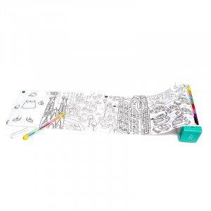 Reise-Taschenspiel mit Ausmalbild und Stift