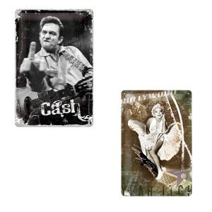 Retrohenkinen peltikyltti Johnny Cash