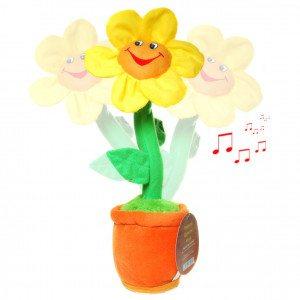 Singende und tanzende Plüsch-Blume