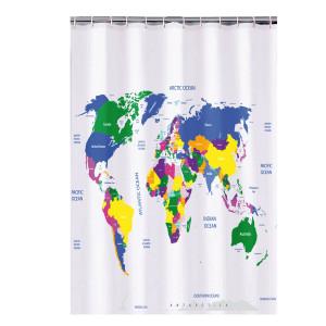 Suihkuverho Maailmankartta