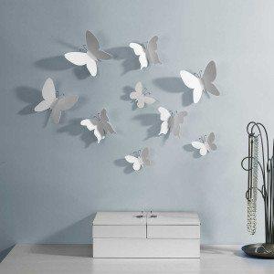 Valkoiset perhoset seinäkoriste