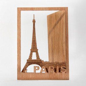 Vielseitige Grußkarten aus Holz - Paris
