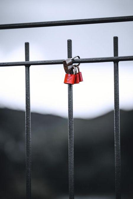 Rakkaus Castle kaide sillan Ystävänpäivä perinne Italiassa